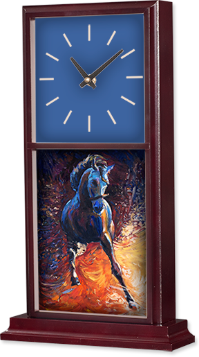 5756,Sublimation Mahogany Framed Tile Wall Clock Kit, 2 Each
