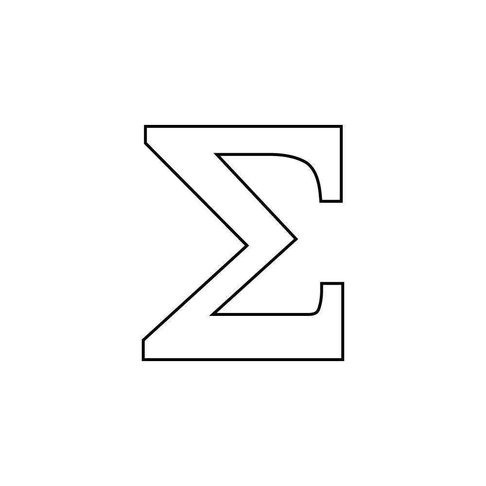 Love Letters Matte White Slab Serif Greek Sublimatable Letters Seps